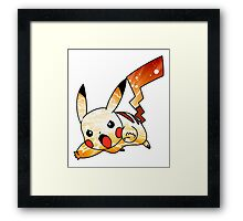 Pikachu Lightning Framed Print