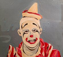 Pickles the Clown - Circus Painting by Lucinda  Storms