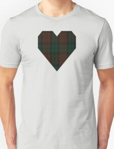 00411  Brown Watch (single tramlines) Tartan T-Shirt