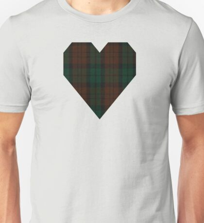 00411  Brown Watch (single tramlines) Tartan Unisex T-Shirt