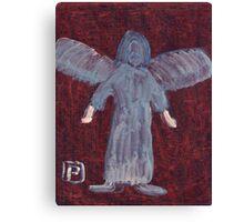Angel with big feet Canvas Print