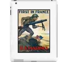 US Marines -- First In France iPad Case/Skin