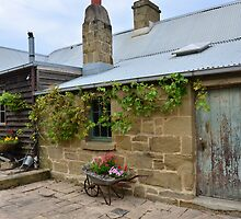 Another view, Sandstone cottage, Ceres, Victoria by ronaldbegg