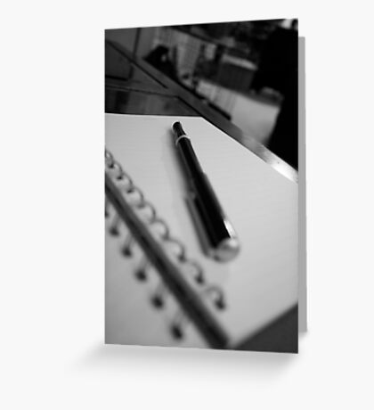 The pen speaks loudly Greeting Card