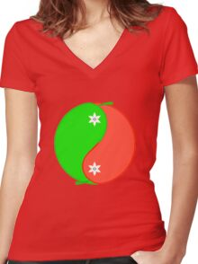 Sweet and Spicy Women's Fitted V-Neck T-Shirt
