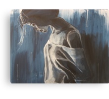 A woman deep in thought Canvas Print