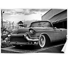 Memphis Cadillac Convertible Poster