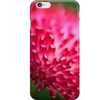 Pink and Green Flower Macro iPhone Case/Skin