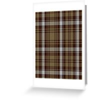 00412 Brown Watch Dress Tartan  Greeting Card