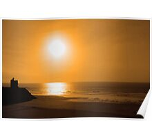 ballybunion golden beach sunset Poster
