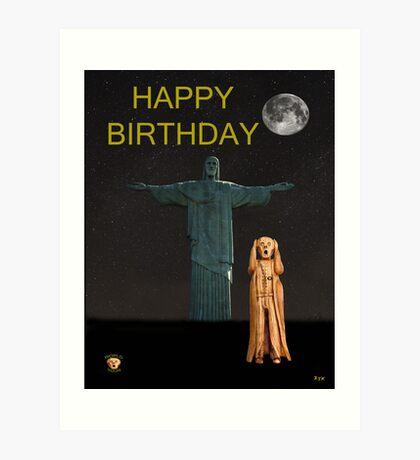 The Scream World Tour Rio Happy Birthday Art Print