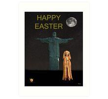 The Scream World Tour Rio Happy Easter Art Print