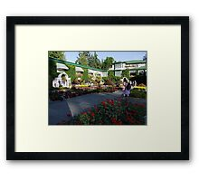 The Italian Garden at Butchart's (1) Framed Print