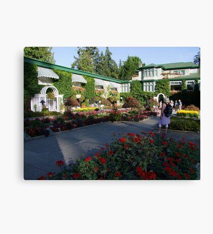 The Italian Garden at Butchart's (1) Canvas Print