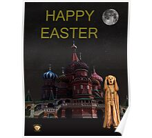 The Scream World Tour Moscow Happy Easter Poster