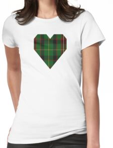 00413 George Brown Tartan Womens Fitted T-Shirt