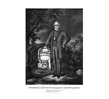 General Lee Visits The Grave Of Stonewall Jackson Photographic Print
