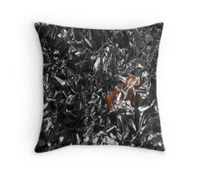 Human in aliens city Throw Pillow