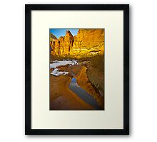 Zion Canyon Near Big Bend Framed Print