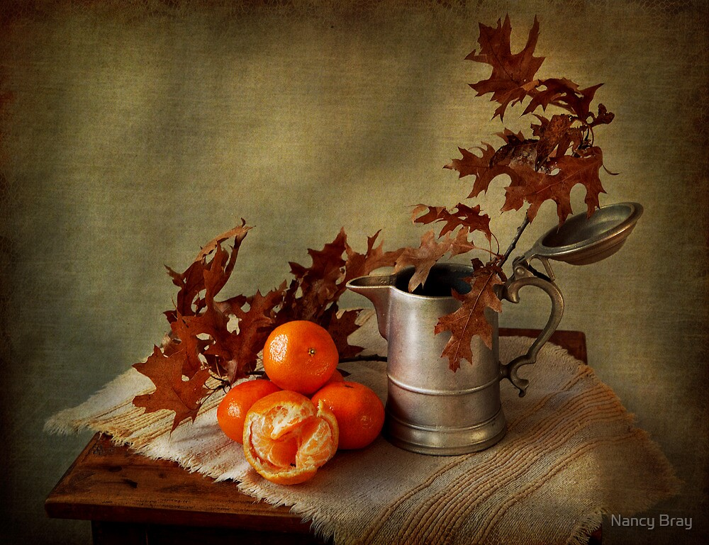 Still Life with Clementines by Nancy Bray