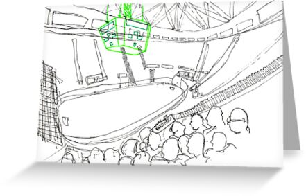 Ice Arena Sketch by Richard Butler