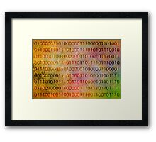 A Picture in Binary Framed Print
