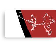 Blood Hockey Canvas Print