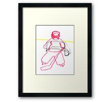 Tiny Goalie Framed Print