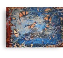 GLITTER BLUE Canvas Print
