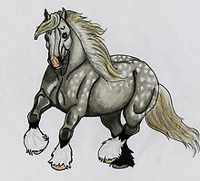 Gypsy Vanner Horse by JBW825