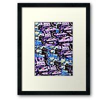 Blue Combo Framed Print