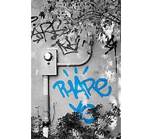 Graffiti - Blue Photographic Print