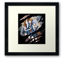 neon genesis evangelion rei ayanami asuka soryu anime manga shirt Framed Print