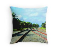 """""""Distant Past."""" In Old, Hand-Tinted Postcard Style Throw Pillow"""