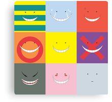 Koro Sensei patchwork Canvas Print