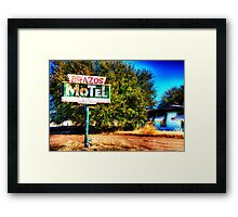 Brazos Motel - Grandbury, Texas Framed Print