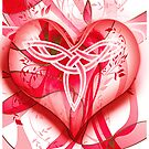Red Red Celtic Heart by Smurfesque