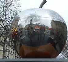 Apple reflection by Carol Dumousseau