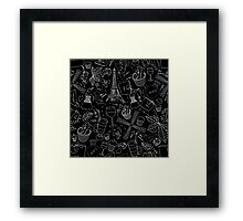 - Walking in Paris pattern 2 - Framed Print