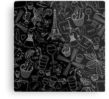 - Walking in Paris pattern 2 - Metal Print