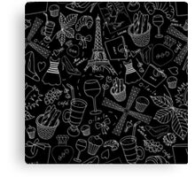 - Walking in Paris pattern 2 - Canvas Print
