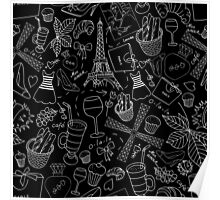 - Walking in Paris pattern 2 - Poster