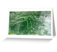 Green wall Greeting Card