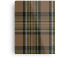 00416 Cavalier Brown Tartan  Metal Print