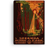 Sequoia National Park Poster Canvas Print