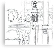 Interior da Faculdade de Arquitetura e Urbanismo - USP Canvas Print