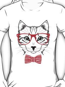 Hipster Cat T-Shirt T-Shirt