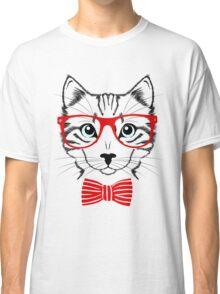 Hipster Cat T-Shirt Classic T-Shirt