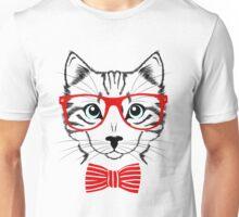 Hipster Cat T-Shirt Unisex T-Shirt