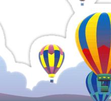 Hot Air Balloons T-Shirt. Sticker